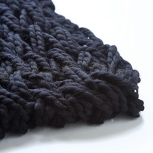 Load image into Gallery viewer, Hand knitted black snood