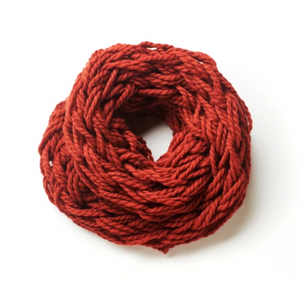 Hand knitted red snood