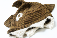 Load image into Gallery viewer, Hand knitted shark beanie