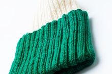 Load image into Gallery viewer, Green & White Beanie