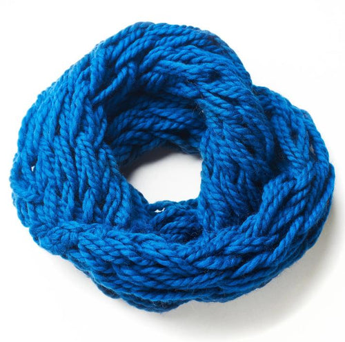 Hand knitted blue snood