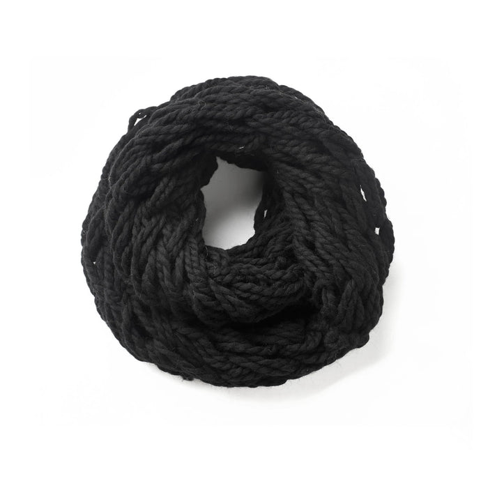Hand knitted black snood