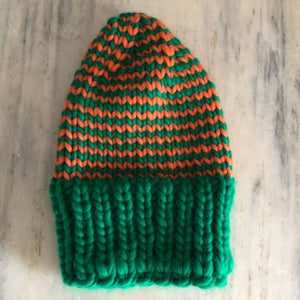 Orange & Green Beanie
