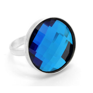 """Royalty In Blue"" Sterling Silver 925 Ring by Royal Crystals"