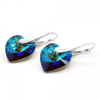 """Blue Heaven"" Heart Earrings by Royal Crystals"
