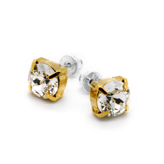 Basic Stud Earrings in Gold by Royal Crystals