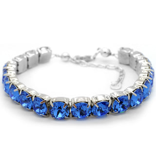 """Royalty In Blue"" Sterling Silver 925 Bracelet by Royal Crystals"