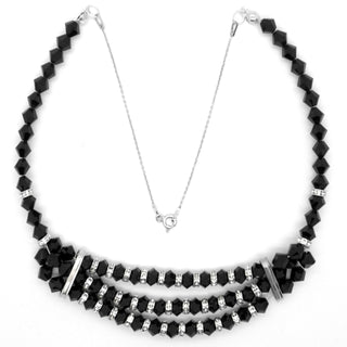 """Black Is Back"" Necklace Made With Swarovski Crystals And Sterling Silver 925 by Royal Crystals"