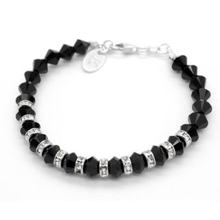 """Black Is Back"" Bracelet Made With Swarovski Crystals And Sterling Silver 925 by Royal Crystals"