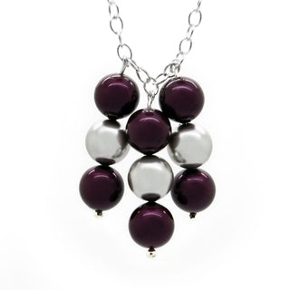 """Prosperity Plum Pearl"" Necklace by Royal Crystals"