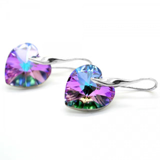 """Vitrail Light Amora"" Heart Earrings by Royal Crystals"