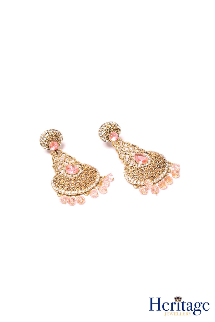 Antique Gold Earrings with Stones