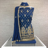Faux Benarsi Suit with Embroidery & Stonework