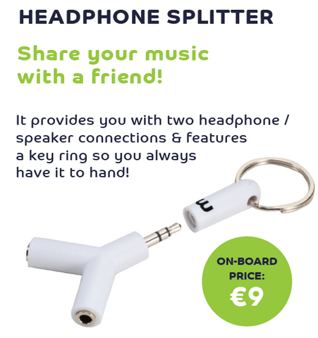 Key Ring Headphone Splitter