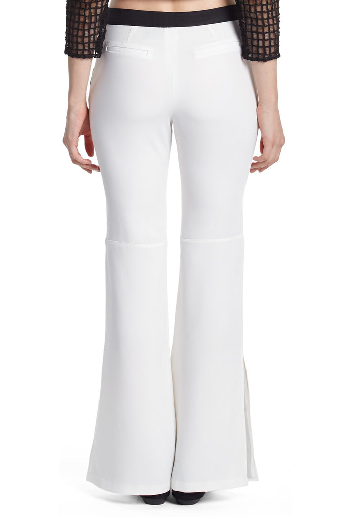 Flared White Trousers