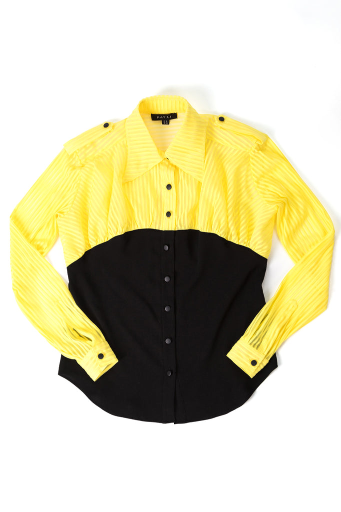 JUDY Shirt - Black/Yellow