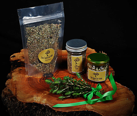 Dried Wild Thyme in packages thespartantable