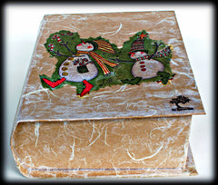 Book of Honey, Unfiltered unheated honey gift in a  Handmade gift box with Christmas/Winter theme