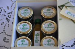 ephors gift box, thespartantable, organic evoo and wild herbs