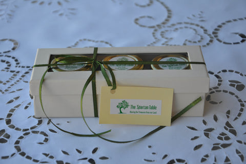 "Gift  parcel, ""The Kings"" series : ""Mountain's Treasures"", Wild Oregano, Sea Salt and Wild Thyme in a Gift Box, the Ideal gift"