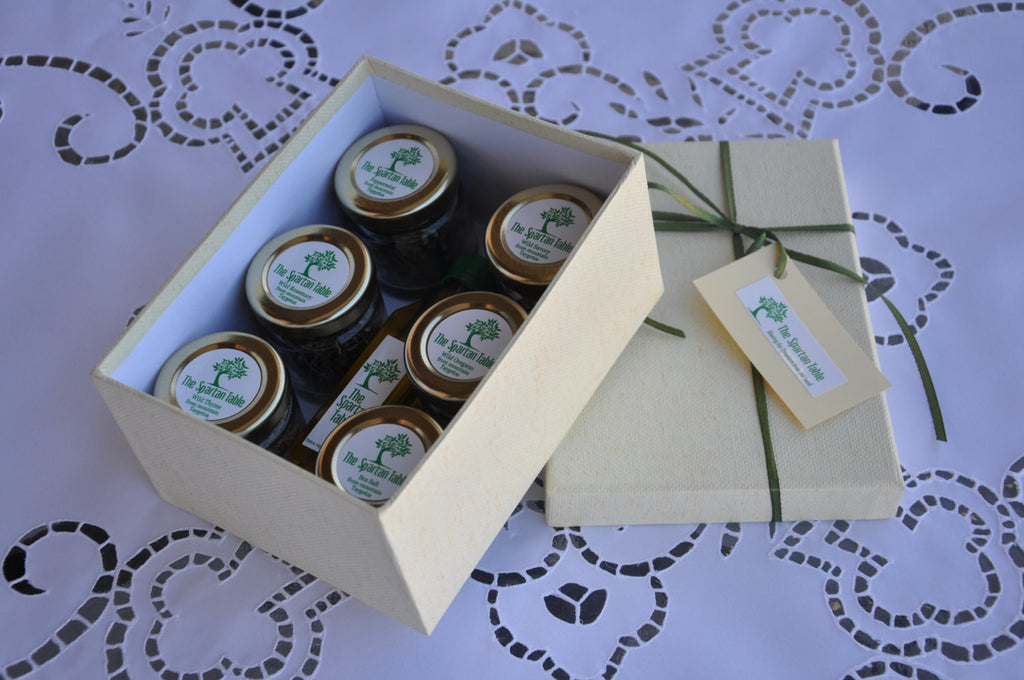 gift box , the ephors, thespartantable, Wild Dried Herbs from Spartan Land