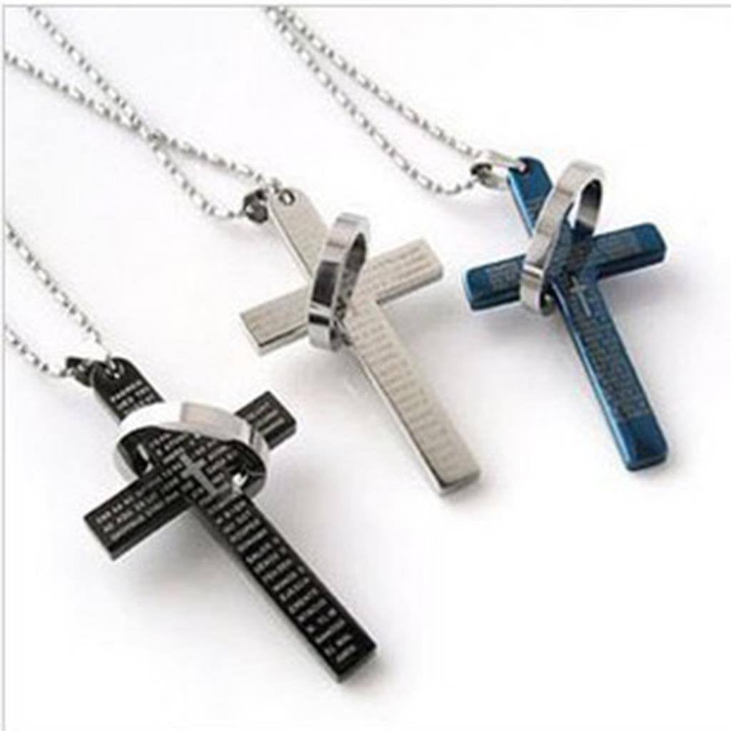 Itsuniquelymine Cross necklaces for women and guys in black, silve and gold
