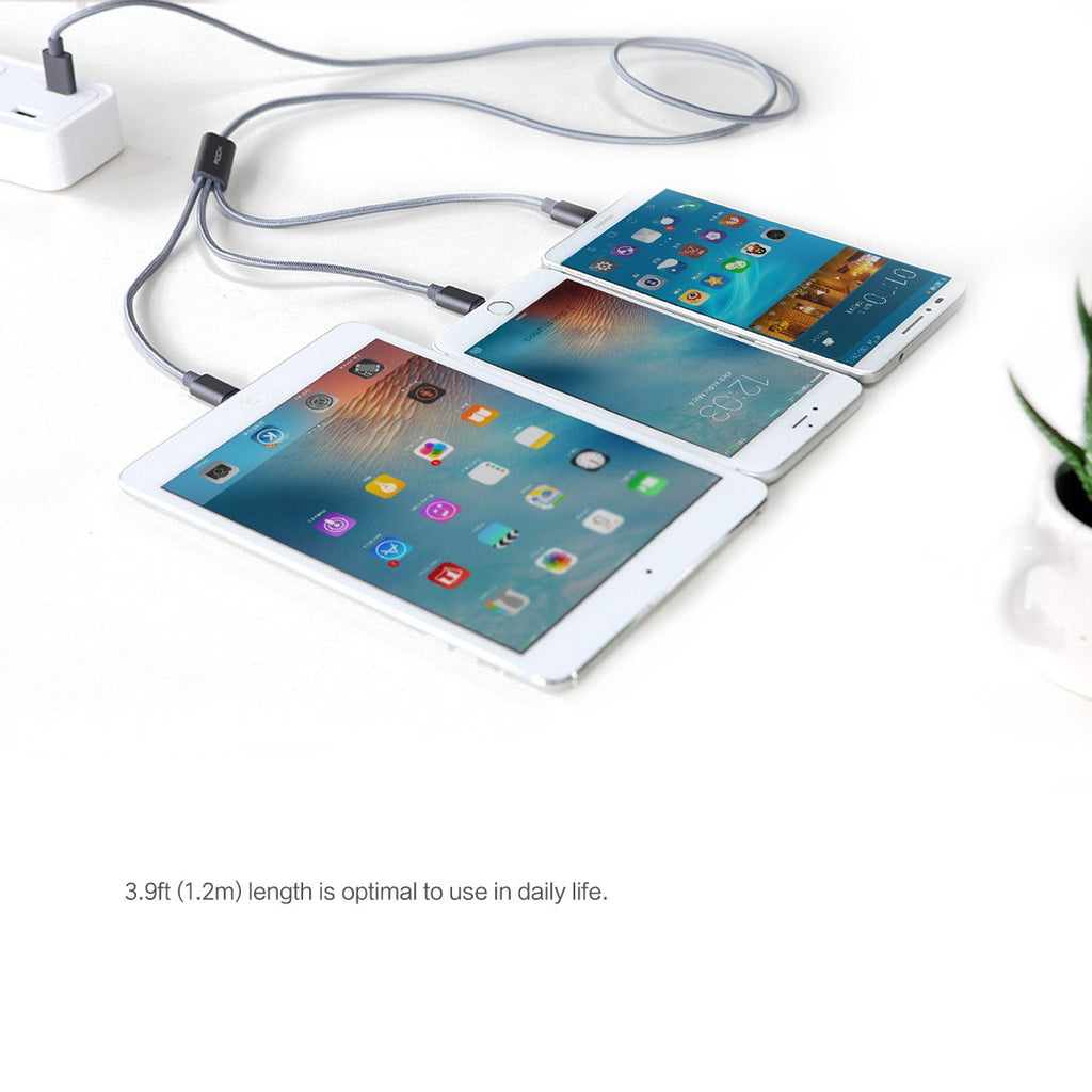 3 in 1 Charging USB Cable for iPhone 5s/6/6s/7/Samsung, one Micro USB cable and two cable for lightning - Itsuniquelymine