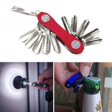 Functional Pocket Stainless Steel Smart  Key Organizer with LED Light and bottle opener - Itsuniquelymine