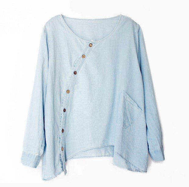 Casual and loose women's denim Shirt