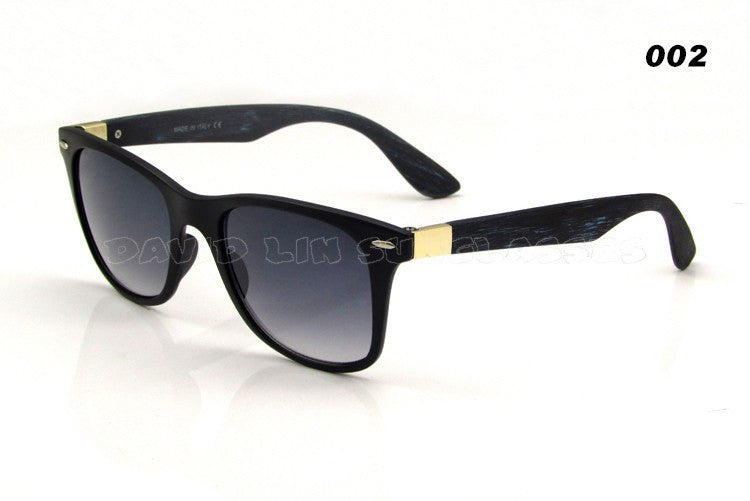 Itsuniquelymine men's Black sunglasses in hardwearing Bamboo with plain black handles.