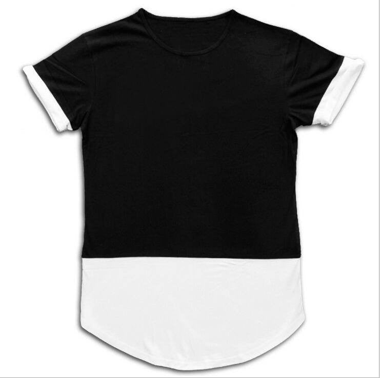 Fashionable Men's  Extended  High Fashion Short Sleeve T Shirt with arc hem - Itsuniquelymine