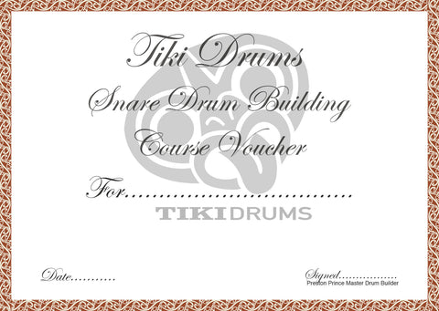 Snare Drum Building course voucher