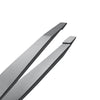 Stainless Steel Slant Tip Eyebrow Tweezers | Precision Plucking and Tweezing for Brows, Ingrown Hair, Splinters | Lightweight, Wide Grip