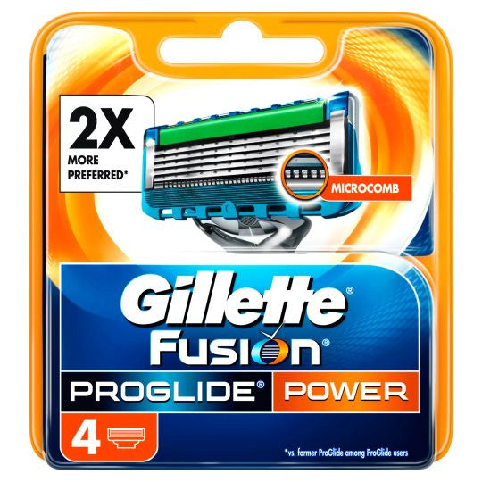 Gillette Fusion Proglide Power 4's