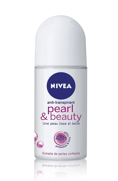 6 x Nivea Pearl & Beauty Deodorant Roll-On 50ml