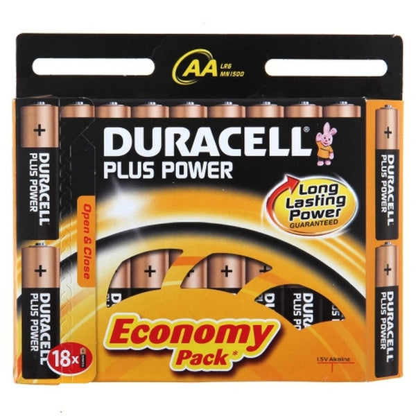 Duracell Power Plus AA batteries 18 pack