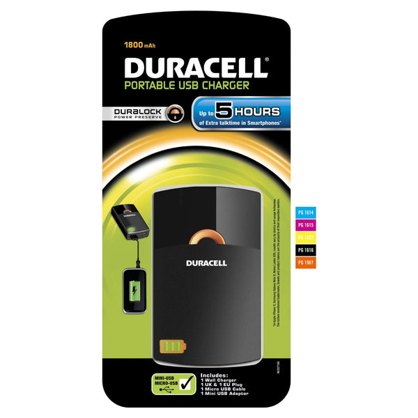 Duracell 5 Hour Mobile Phone & MP3 Portable USB Charger