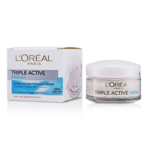 L'Oréal Paris Triple Active Fresh Ultra Hydrating Gel-Cream For Dry and Sensitive Skin 50ml