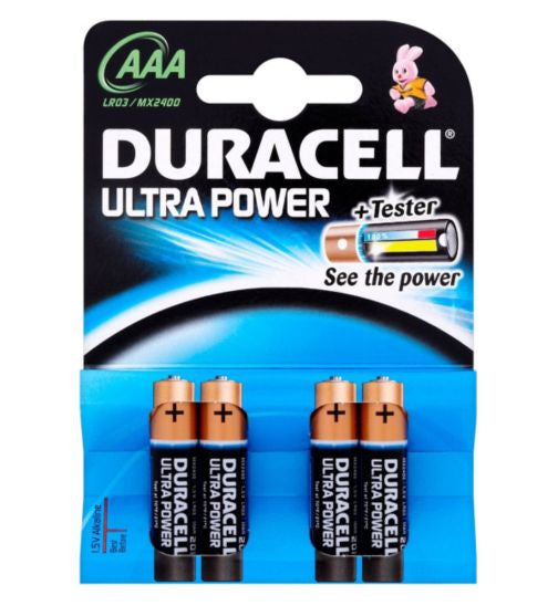 Duracell Ultra Duralock Power AAA Alkaline Batteries - 4 pack