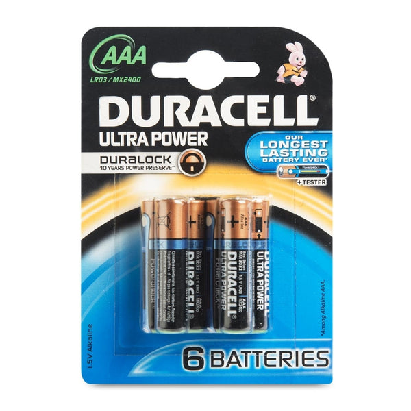 Duracell Ultra Duralock Power AAA Alkaline Batteries - 6x pack