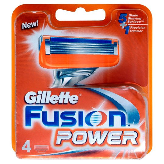 Gillette Fusion Power Razor Blades 4 Pack
