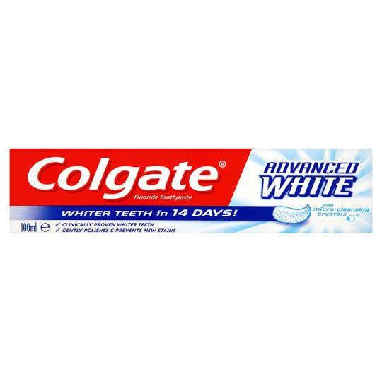 Colgate Advanced White Toothpaste Tube 100ml Pack 3