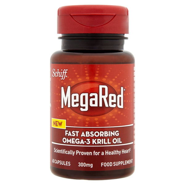 MegaRed Fast Absorbing Omega 3 Krill Oil 300mg 60 Capsules