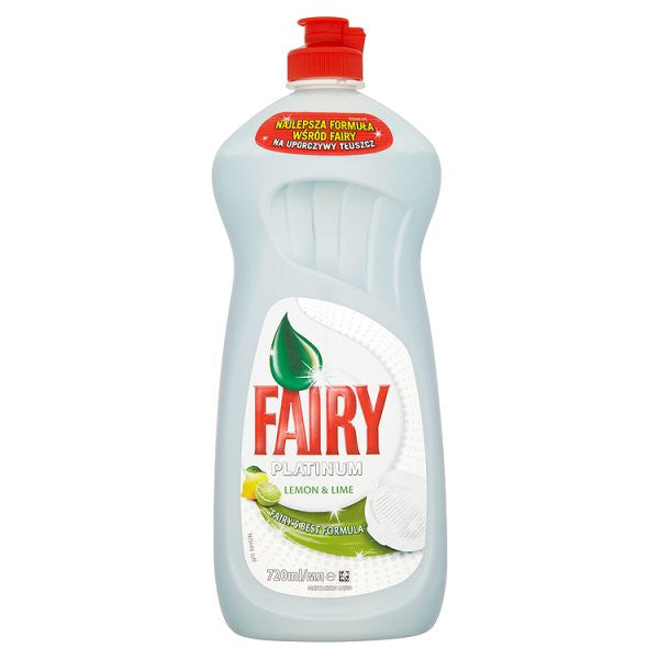 Fairy Platinum Lemon & Lime Washing Up Liquid 720ml