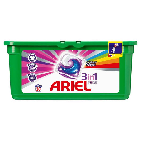 Ariel Bio 3in1 Washing Capsules Colour 30 per pack