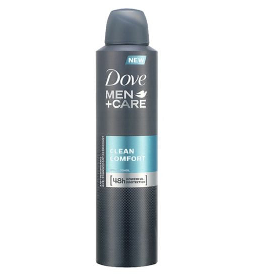 Dove Men+Care Clean Comfort Anti-Perspirant Deodorant Spray 200ml