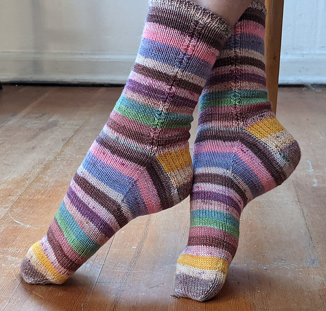 Mid-KAL Hard Candy Kisses Socks