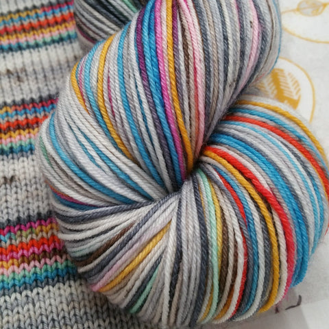 Apple Picking -must match set - Must Stash self striping sock yarn fun colorful knitting large skein twin matching double