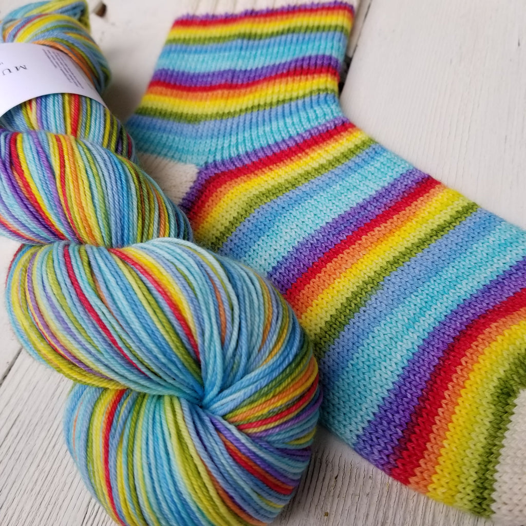 I am Fearless -Affirmation Collection - Must Stash self striping sock yarn fun colorful knitting large skein twin matching double