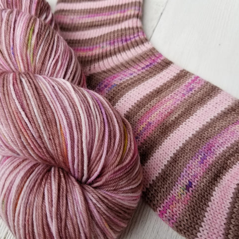Garden Party -must match sock - Must Stash self striping sock yarn fun colorful knitting large skein twin matching double